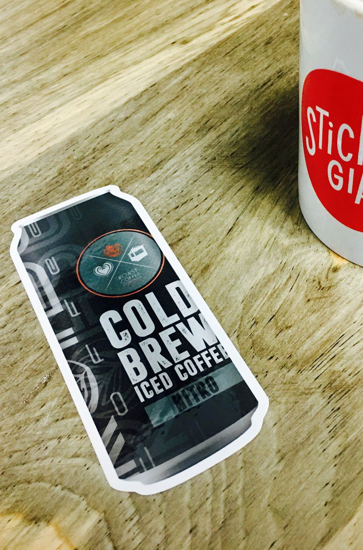 Making an impact at Roast Coffee Company with some delicious Cold Brew Iced Coffee Nitro in a can and custom Die Cut Stickers for their fans to show they love it. 😋