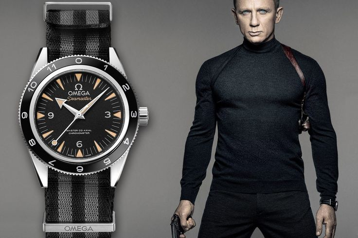 Daniel Craig's 007 in an Omega Seamaster 300M Master Co-Axial