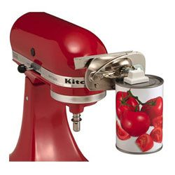 8 KitchenAid Attachments You Really Shouldn't Live Without! ... e.g. can opener  ... #wishlist #gift #products I love