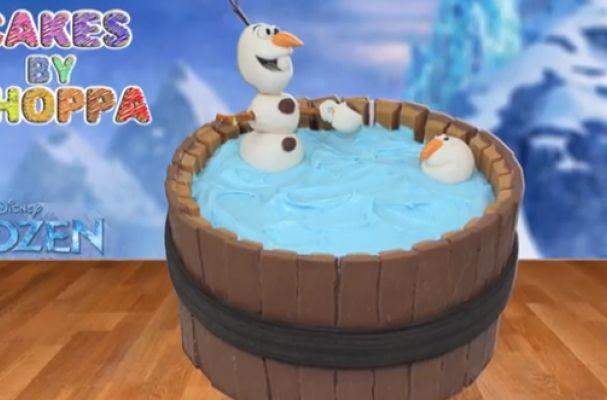 Foodista   Disney's Frozen Olaf Cake