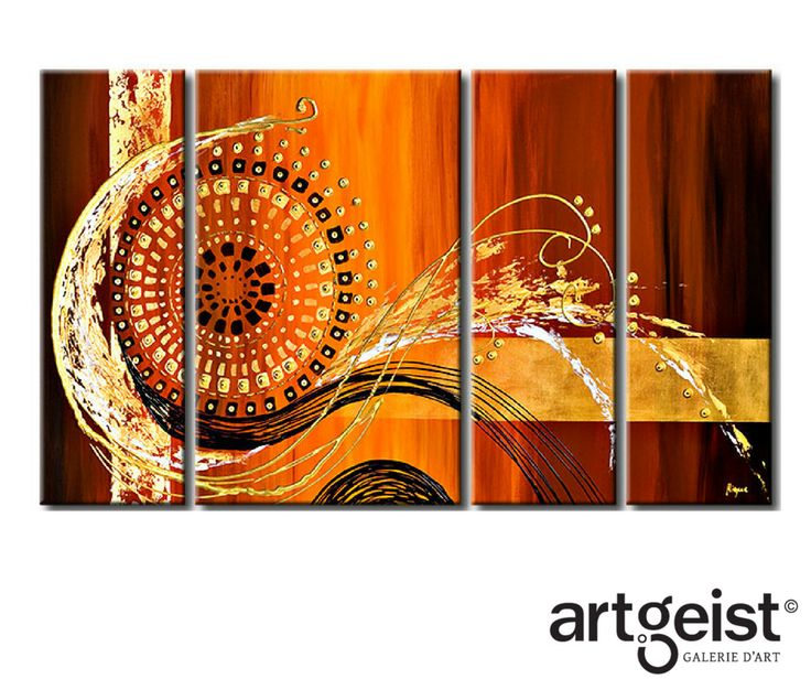 colores intensos y detalles decorativos son las de cuadros abstractos en la galera artgeist