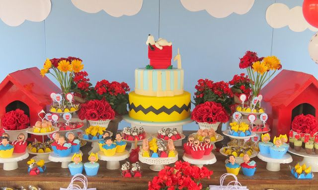 Simplesmente perfeito!!! Snoopy Party