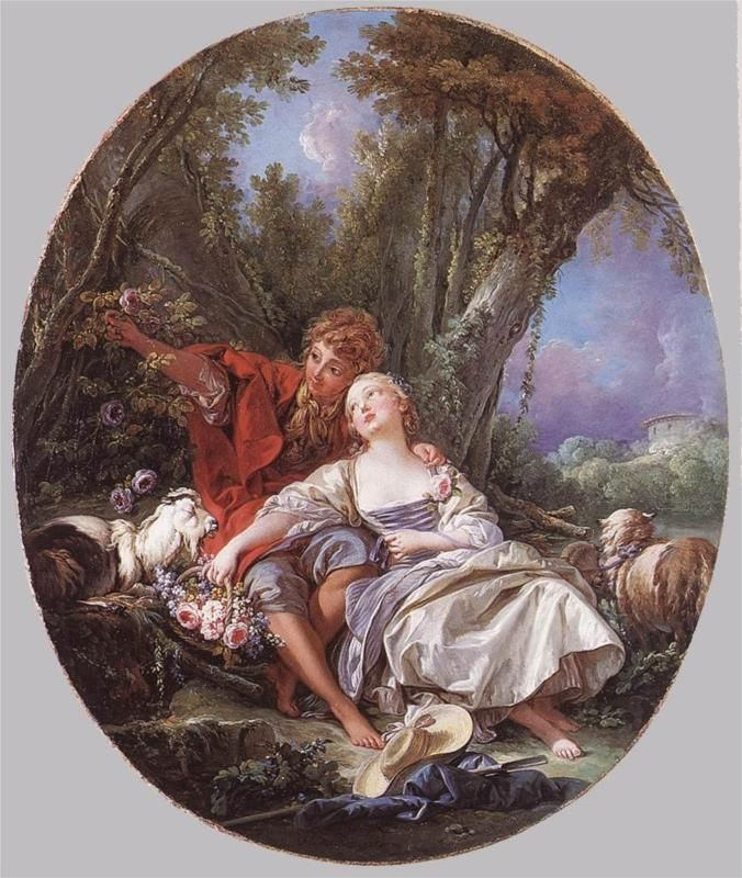 Shepherd and Shepherdess Reposing by Francois Boucher, 1761