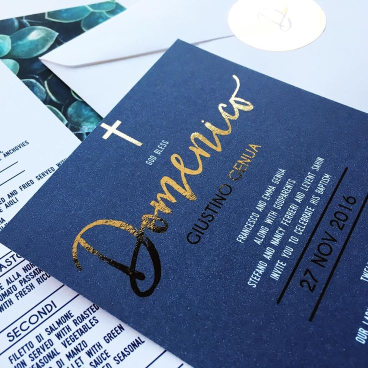 Baptism and christening invitations for baby boy. Navy and gold invitation suite Custom design form Australian Party & Event Stationery Studio www.dangerandmoon.com