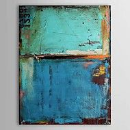 Oil Paintings Vintage Abstract Blue Color with Numbers  Hand-painted Canvas Ready to Hang – USD $ 42.99