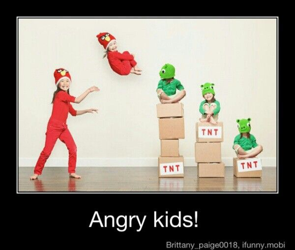 Angry kids. I would love to make this for someone! (It saddens me, but I feel compelled to say ...do not actually throw your children...photoshop out the parent holding them.)