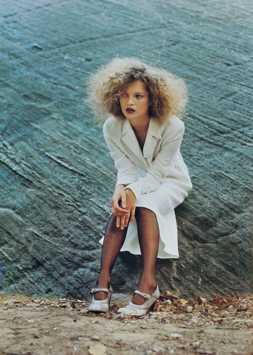 """Romantic Revival"" Kate Moss by Juergen Teller for US Vogue December 1994"