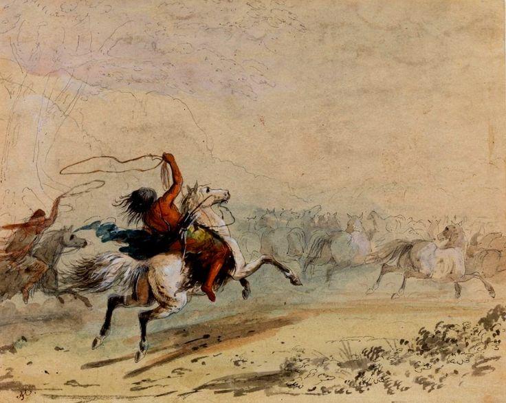 Catturando Cavalli Selvaggi con il Lasso 1838