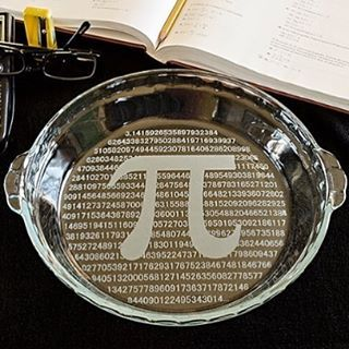It's a Pi dish!  Avail at www.sciencenerdsrock.com Pi (π) is the ratio of the circumference of a circle to its diameter. In other words, pi equals the circumference divided by the diameter (π = c/d). Conversely, the circumference is equal to pi times the diameter (c = πd). No matter how large or small a circle is, pi will always work out to be the same number. Pi is an irrational number, which means that it is a real number with nonrepeating decimal expansion. It cannot be represented by an…