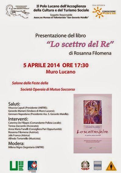 Unitre di Muro Lucano: 5 aprile 2014  - ore 17.30  Salone delle Feste del...