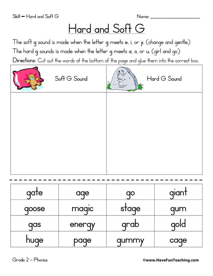 hard g and soft g worksheet phonics worksheets spelling. Black Bedroom Furniture Sets. Home Design Ideas