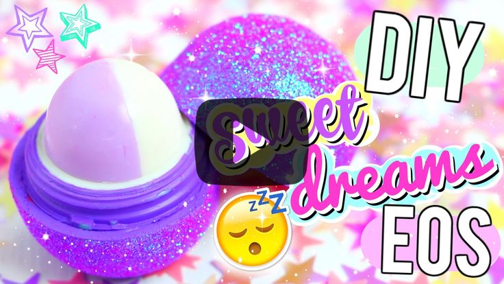 DIY Glitter Sleep Balm EOS. Click here to find out how to make this