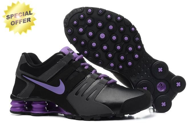 2015 Womens Nike Shox Current Black Purple 6538896-018