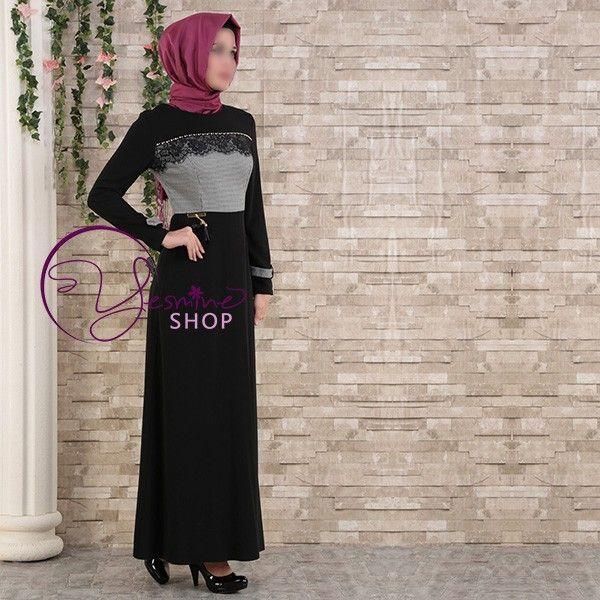 Une robe pour femme musulmane moderne désirant allié pudeur et élégance. Yesmine Shop une mode pour vous, tesettür giyim fransa, tesettur elbise fransa