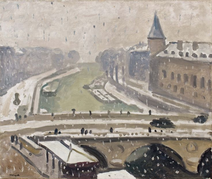 blastedheath: Albert Marquet (French, 1875–1947), Neige à Paris, c.1912. Oil on canvas, 46 x 55 cm.