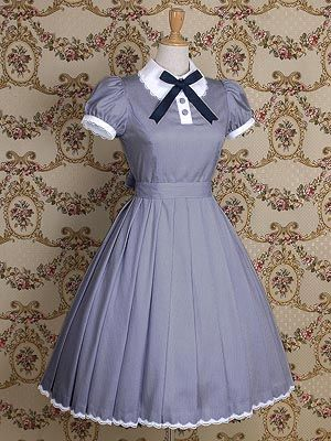Mary Magdalene Claudette OP. What a simple and pretty Lolita dress. It looks very smart looking and not too over-the-top.