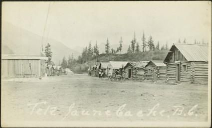 Street in Tete Jaune Cache, BC - Northern BC Archives