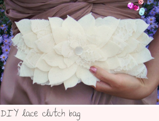 DIY Lace Bag~~~great new something for Easter or Spring!!!