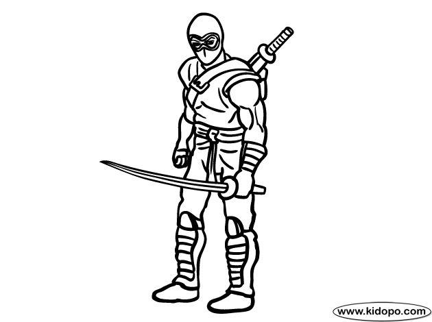 printable ninja coloring pages