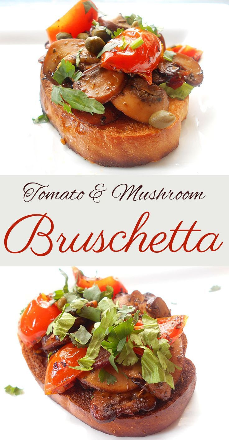 Mushroom bruschetta is a perfect Sunday Brunch recipe. This is a quick meal idea that is a healthy vegan recipe. Also a great lo-carb vegetarian recipe