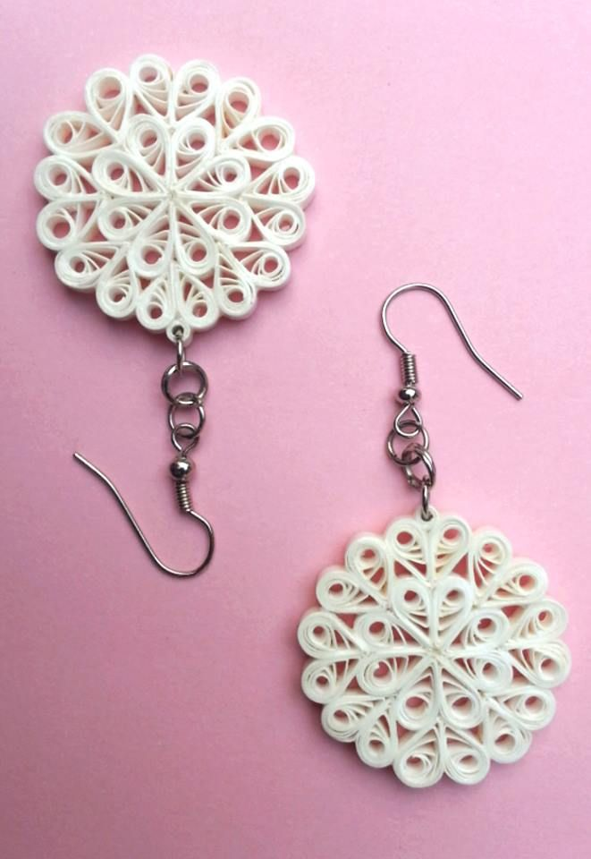 Quilled Earrings snowflake