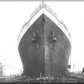Titanic's bow. Her three anchors weighed a total of 31 tons.