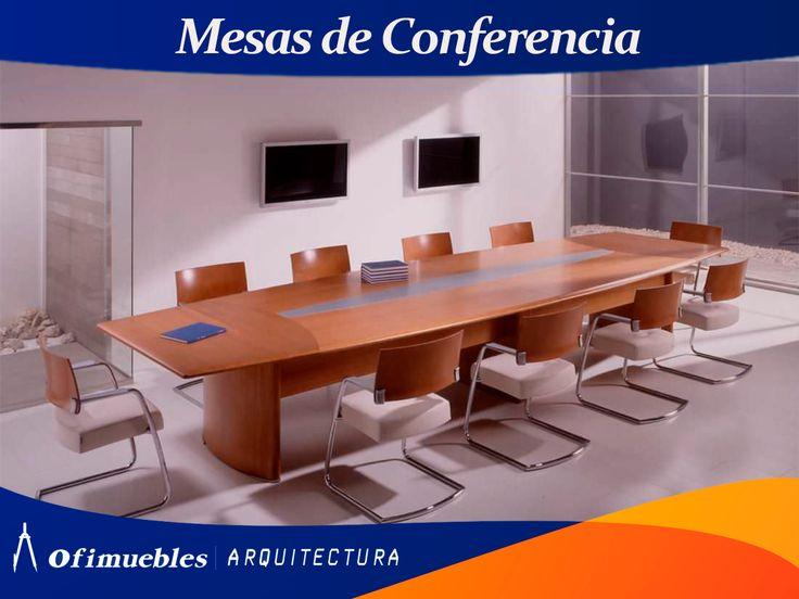 Elegantes mesas de conferencia en Ofimuebles.