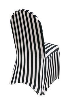 Spandex Chair Covers Black and White Striped