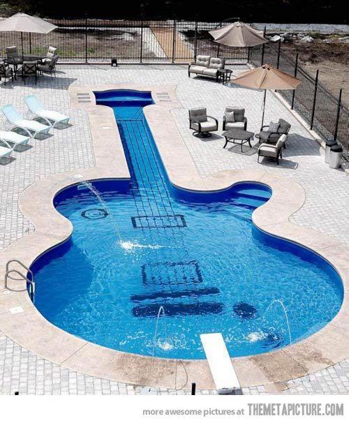 Guitar Swimming Pool
