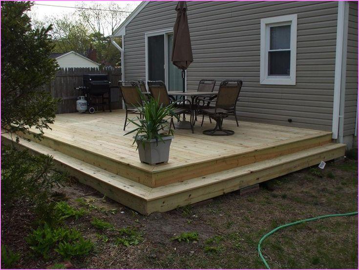 25+ best ground level deck ideas on pinterest | wood patio, simple ... - Backyard Wood Patio Ideas