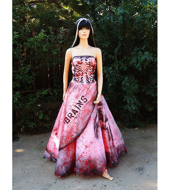 Deluxe Zombie Prom Queen Costume by GraveyardShift13 on Etsy, $199.00