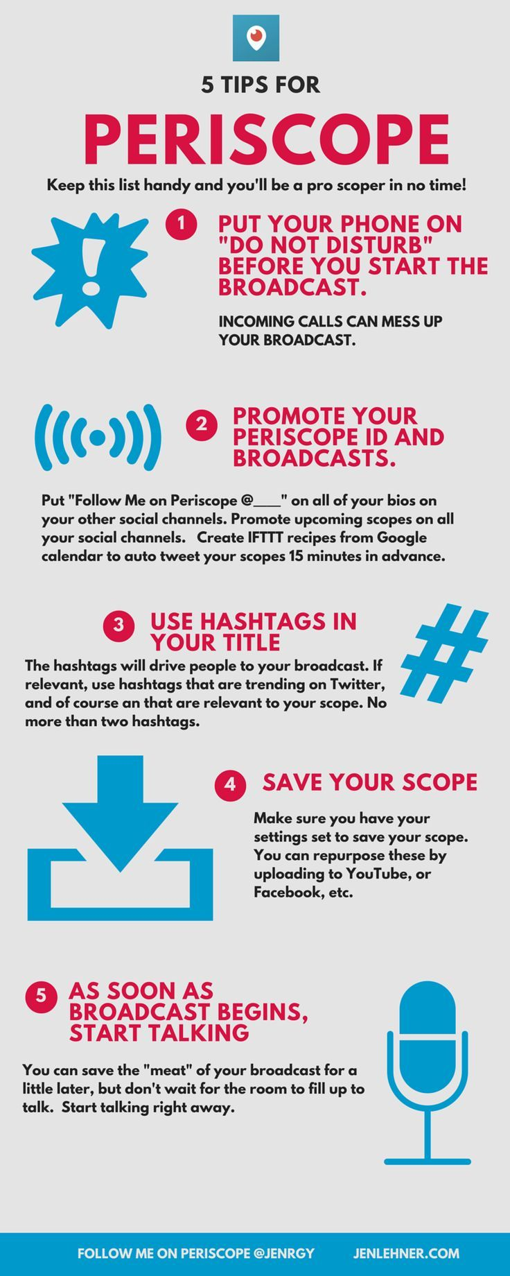 Periscope Tips - How to broadcast better and gain followers faster. Social media tips, social media marketing