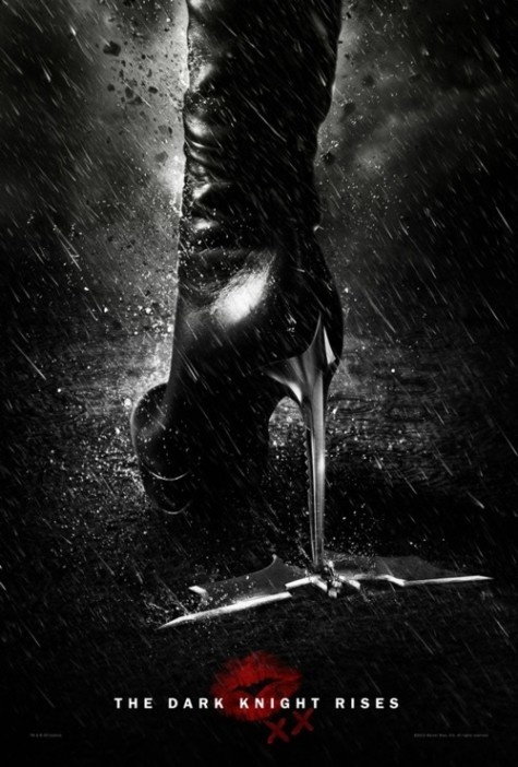 Black Leather Stilleto Boots - Catwoman