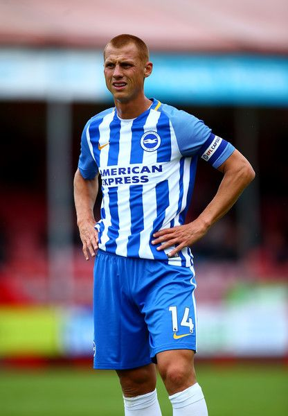 Steve Sidwell of Brighton looks on during the Pre Season Friendly match between Crawley Town and Brighton & Hove Albion at Broadfield Stadium on July 22, 2017 in Crawley, West Sussex.