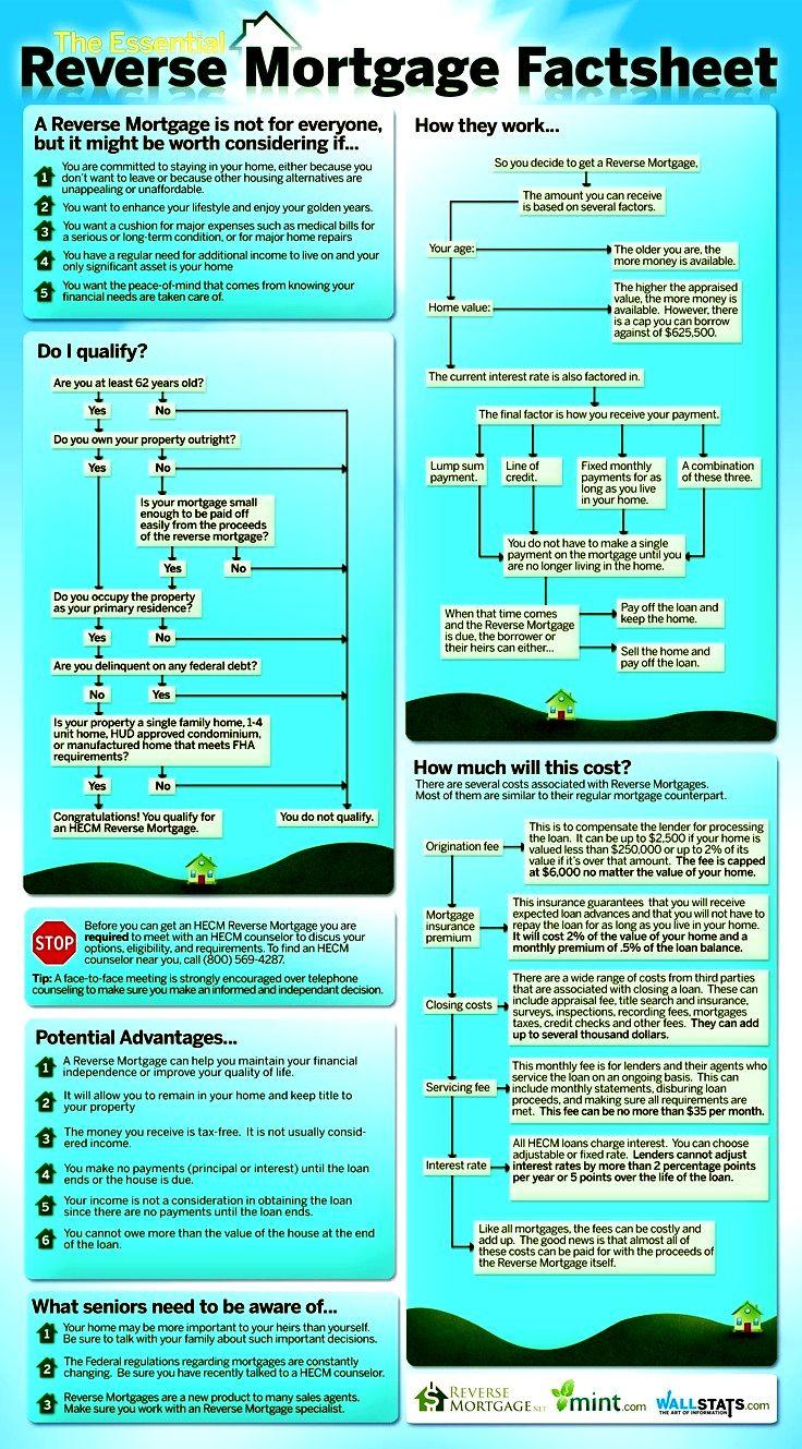 Reverse Mortgage Fact Sheet Infographic. reversemortgage