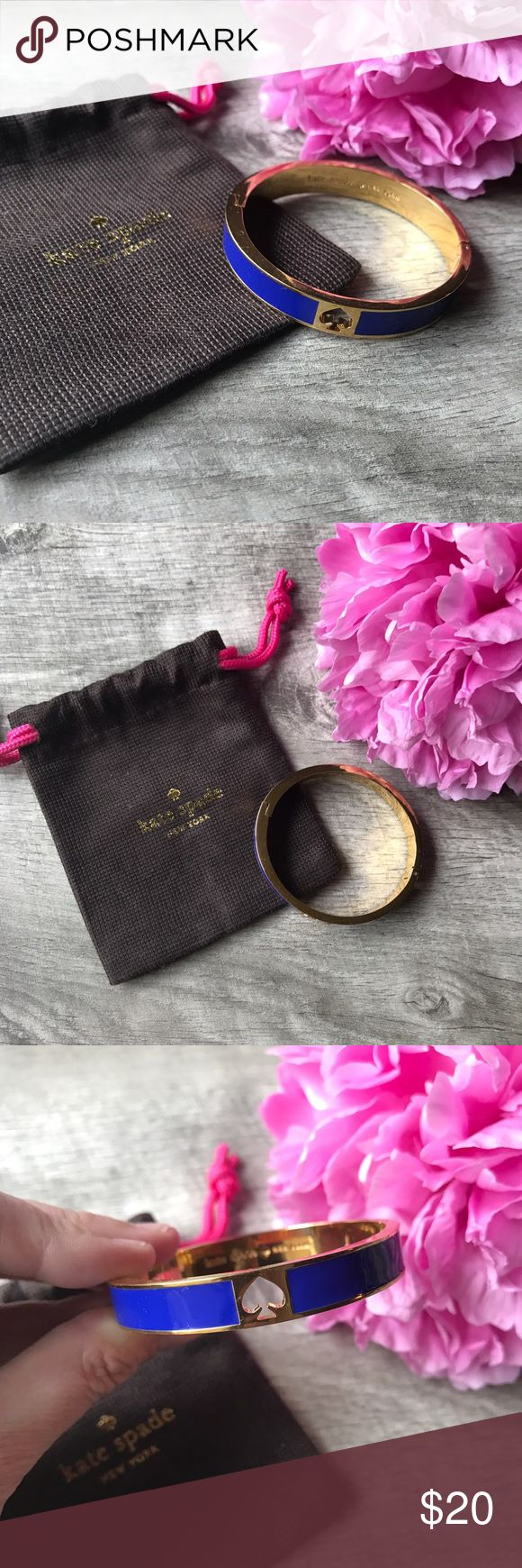 Kate Spade ♠️ Bangle Perfect simple bangle with the Kate Spade ♠️! Includes dust bag. Magnetic latch closure. Perfect for the lady that loves bangle bracelets, but may need better fit! Worn once. No trades. kate spade Jewelry Bracelets