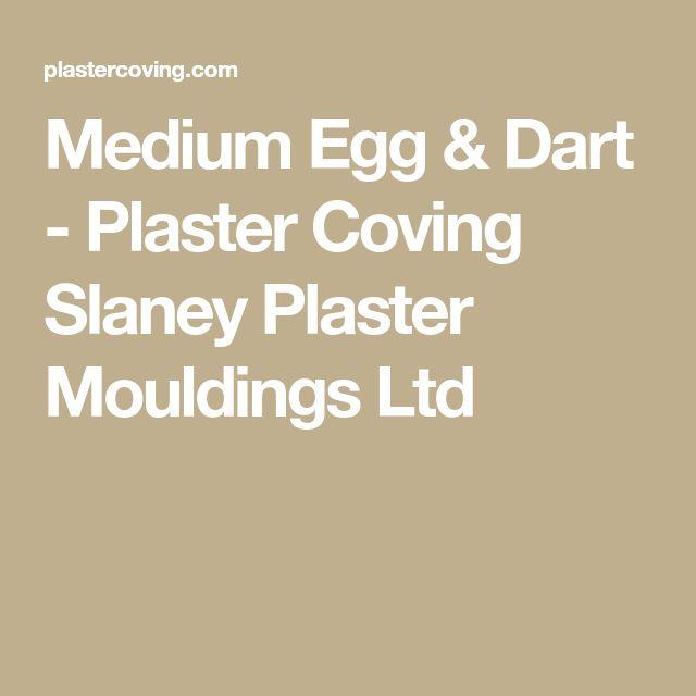 Medium Egg & Dart - Plaster Coving Slaney Plaster Mouldings Ltd