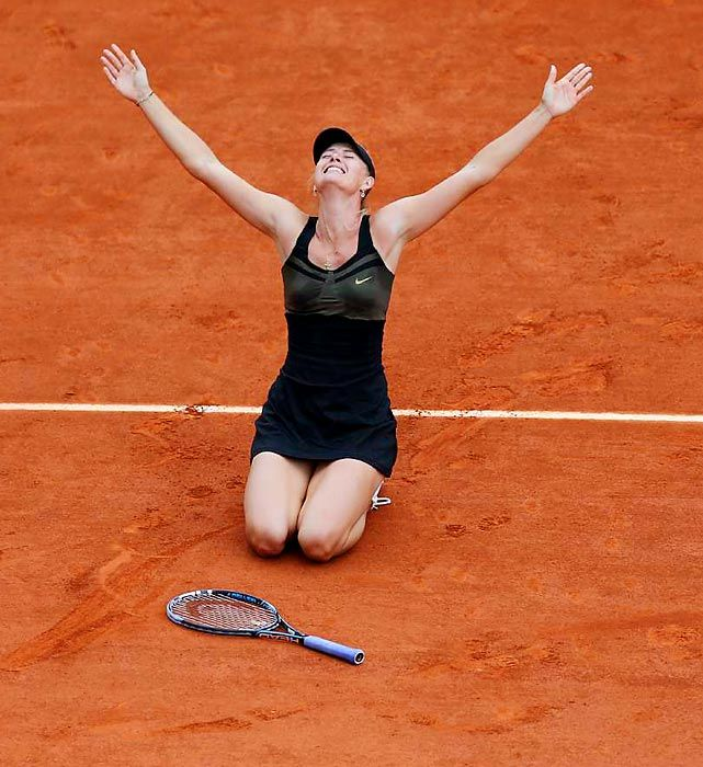 #Sharapova celebrating her 2012 French Open victory was chosen as one of Sports Illustrated's Pictures of the Year
