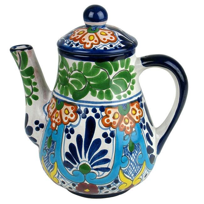This margarita pattern Talavera tea pot will spice up any southwest kitchen decor.