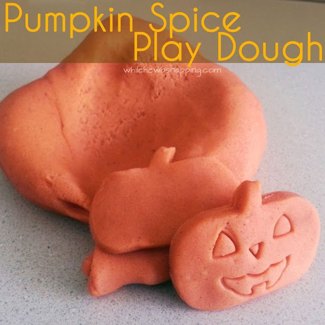 While He Was Napping: Pumpkin Spice Play Dough