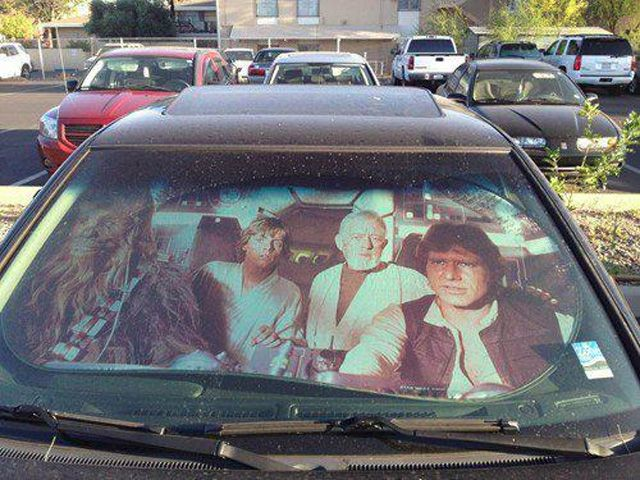 Star Wars Windshield Sun Reflector - Take My Paycheck - Shut up and take my money! | The coolest gadgets, electronics, geeky stuff, and more!