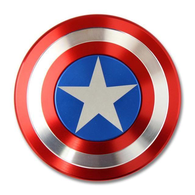 Fidget Spinner Finger Spinner Toy Metal Marvel Captain America CA Tri Hand Spinner TMop Puzzle Rotate Star Gift for birthday