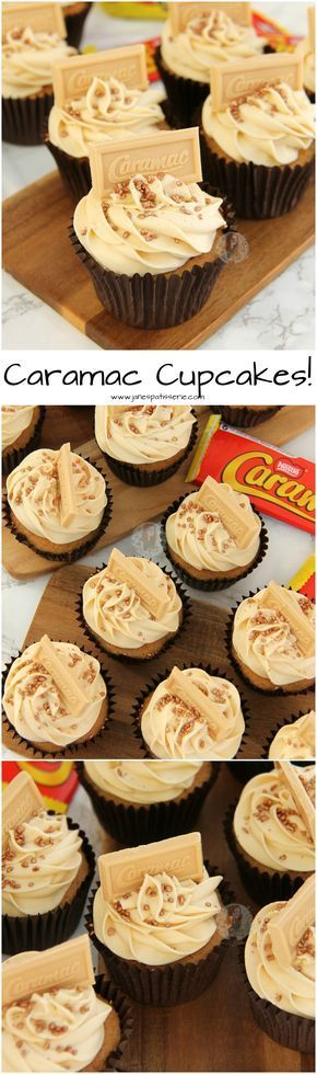 Caramac Cupcakes! ❤️ Caramel hinted cupcake sponges topped with a luscious Caramac Frosting – perfect Caramac Cupcakes for any Caramel & Caramac lover!