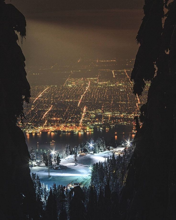 Vancouver seen from Grouse Mountain