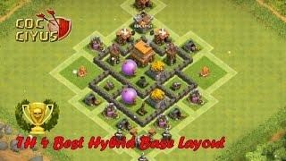 Clash Of Clans Town Hall 4 Defense Coc Th4 Hybrid Base Layout