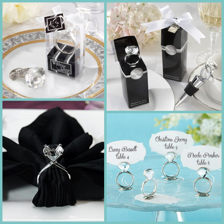 Engagement Diamond Ring Wedding Favors from HotRef.com
