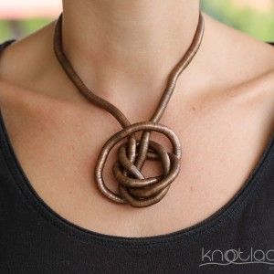 'Original' Knotlace – bendy necklace & acccessory. Copper - http://www.knotlace.com.au/ #style #fashion #accessory #jewellery #copperaccessory