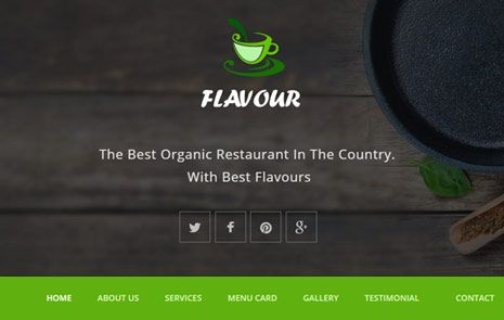 Free Hotel Restaurant Web Template