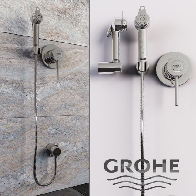 Grohe Bau classic hygienic shower