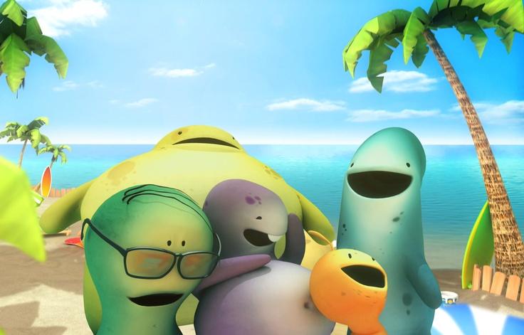Juny 21, summer begins! Nice time: sun, beach, heat, relax and a long time to enjoy with friends! Glumpers, cartoon serie ----- El 21 de junio empieza el verano, Tiempo bonito con el sol, la playa, el calor, relax y mucho mucho tiempo para disfrutar con los amigos! - Glumpers, serie de  dibujos animados